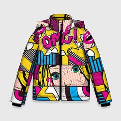 Куртка зимняя для мальчика POP ART цвета 3D-черный — фото 1