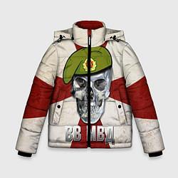 Куртка зимняя для мальчика Череп: ВВ МВД цвета 3D-черный — фото 1
