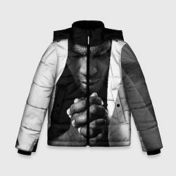 Куртка зимняя для мальчика Майк Тайсон цвета 3D-черный — фото 1