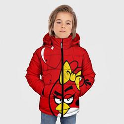 Куртка зимняя для мальчика Птичка цвета 3D-черный — фото 2