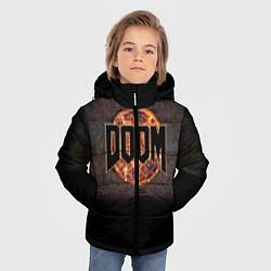 Куртка зимняя для мальчика DOOM Fire цвета 3D-черный — фото 2