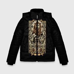 Куртка зимняя для мальчика Лев цвета 3D-черный — фото 1