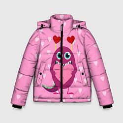 Куртка зимняя для мальчика Чудик с сердцем цвета 3D-черный — фото 1