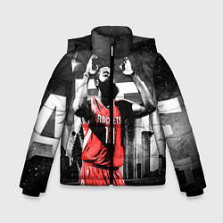 Куртка зимняя для мальчика Баскетболист NBA цвета 3D-черный — фото 1