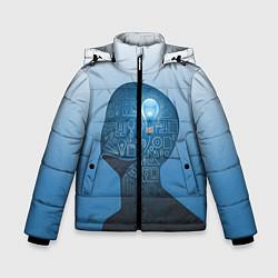 Куртка зимняя для мальчика Умный студент цвета 3D-черный — фото 1