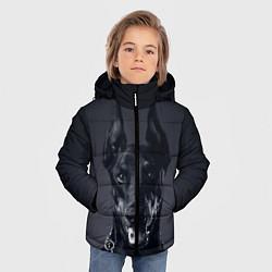 Куртка зимняя для мальчика Взгляд добермана цвета 3D-черный — фото 2