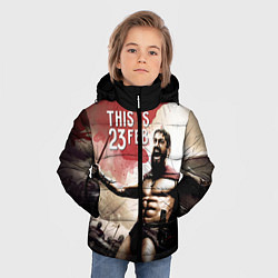 Куртка зимняя для мальчика Это 23 февраля цвета 3D-черный — фото 2