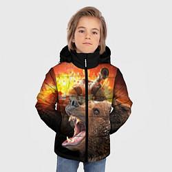 Куртка зимняя для мальчика Защитник цвета 3D-черный — фото 2
