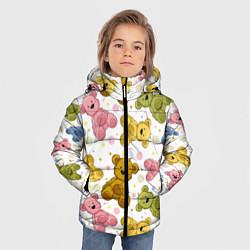 Куртка зимняя для мальчика Любимые медвежата цвета 3D-черный — фото 2