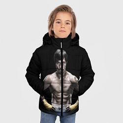 Куртка зимняя для мальчика Мэнни Пакьяо цвета 3D-черный — фото 2