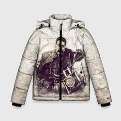 Куртка зимняя для мальчика Сталин байкер цвета 3D-черный — фото 1