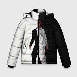 Куртка зимняя для мальчика Eminem: Black & White цвета 3D-черный — фото 1