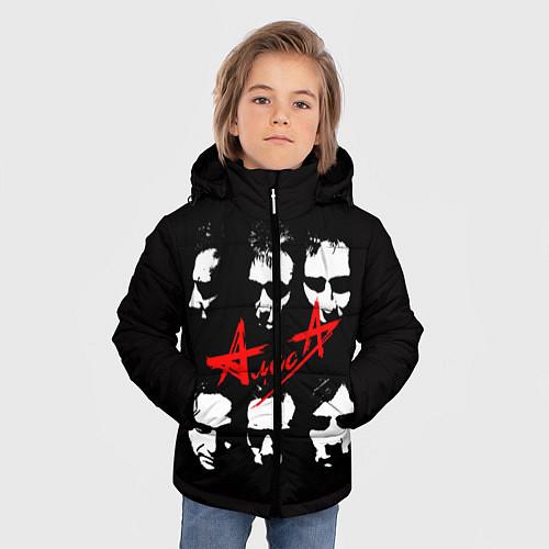 Зимняя куртка для мальчика Группа АлисА / 3D-Черный – фото 3