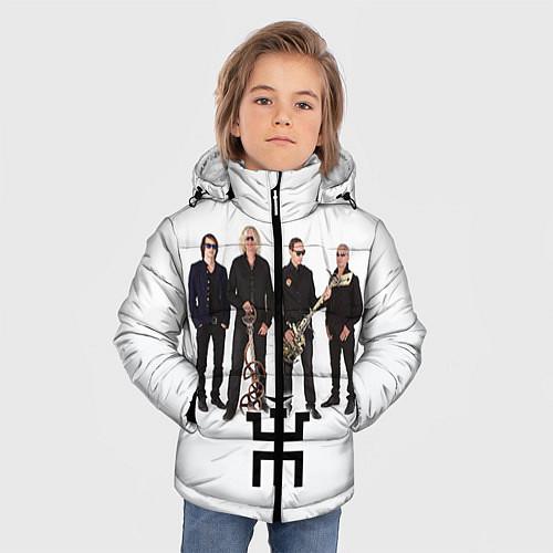 Зимняя куртка для мальчика Группа Пикник / 3D-Черный – фото 3
