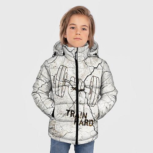 Зимняя куртка для мальчика Train hard / 3D-Черный – фото 3
