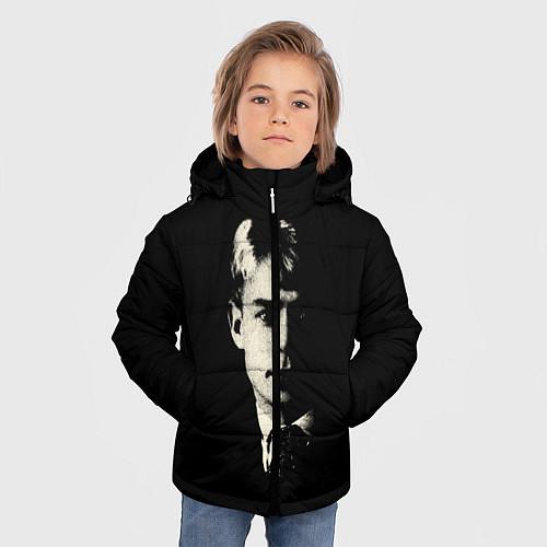 Зимняя куртка для мальчика Есенин Ч/Б / 3D-Черный – фото 3
