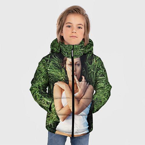 Зимняя куртка для мальчика Анджелина Джоли / 3D-Черный – фото 3
