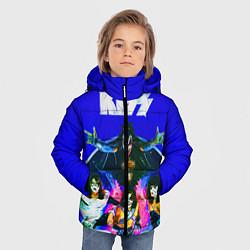 Куртка зимняя для мальчика Kiss Show цвета 3D-черный — фото 2