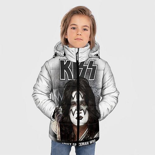 Зимняя куртка для мальчика KISS: Adult spaceman wig / 3D-Черный – фото 3