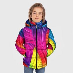 Куртка зимняя для мальчика Абстракция цвета - фото 2