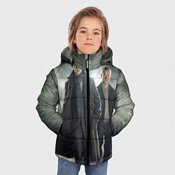 Куртка зимняя для мальчика Шерлок и Доктор цвета 3D-черный — фото 2