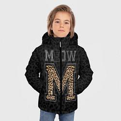 Куртка зимняя для мальчика MEOW цвета 3D-черный — фото 2