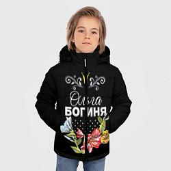 Куртка зимняя для мальчика Богиня Ольга цвета 3D-черный — фото 2