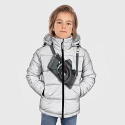 Куртка зимняя для мальчика Фотоаппарат на груди цвета 3D-черный — фото 2