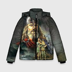 Куртка зимняя для мальчика Богатырь Руси цвета 3D-черный — фото 1