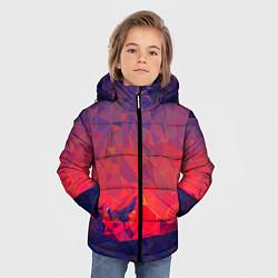 Куртка зимняя для мальчика Абстракция цвета 3D-черный — фото 2