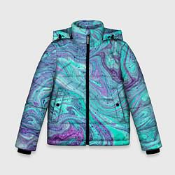Детская зимняя куртка для мальчика с принтом Смесь красок, цвет: 3D-черный, артикул: 10086924806063 — фото 1