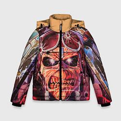 Детская зимняя куртка для мальчика с принтом Iron Maiden: Dead Rider, цвет: 3D-черный, артикул: 10089879806063 — фото 1
