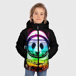Куртка зимняя для мальчика Панда космонавт цвета 3D-черный — фото 2