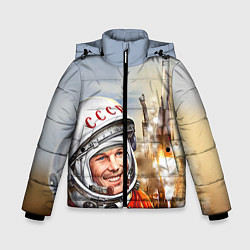 Куртка зимняя для мальчика Гагарин взлетает цвета 3D-черный — фото 1