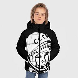 Детская зимняя куртка для мальчика с принтом Гагарин, цвет: 3D-черный, артикул: 10091681306063 — фото 2