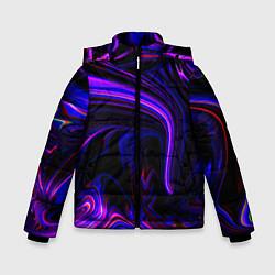 Куртка зимняя для мальчика Цветные разводы цвета 3D-черный — фото 1