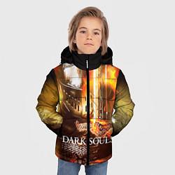 Куртка зимняя для мальчика Dark Souls War цвета 3D-черный — фото 2