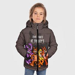Детская зимняя куртка для мальчика с принтом Five Nights At Freddy's, цвет: 3D-черный, артикул: 10093561406063 — фото 2