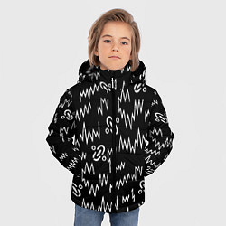 Куртка зимняя для мальчика Chemical Brothers: Pattern цвета 3D-черный — фото 2