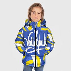 Куртка зимняя для мальчика Волейбол 6 цвета 3D-черный — фото 2