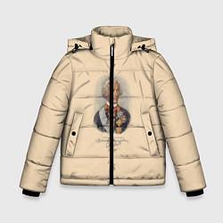 Куртка зимняя для мальчика Александр Суворов 1730-1800 цвета 3D-черный — фото 1