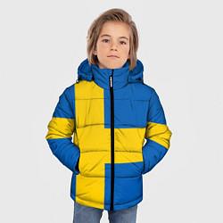 Куртка зимняя для мальчика Швеция цвета 3D-черный — фото 2