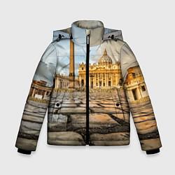 Куртка зимняя для мальчика Площадь святого Петра цвета 3D-черный — фото 1