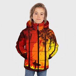 Детская зимняя куртка для мальчика с принтом Summer Surf, цвет: 3D-черный, артикул: 10096432706063 — фото 2