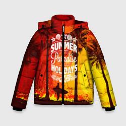 Детская зимняя куртка для мальчика с принтом Summer Surf 2, цвет: 3D-черный, артикул: 10096433006063 — фото 1