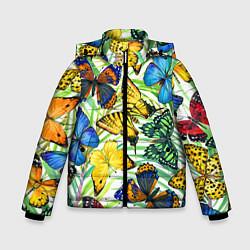 Зимняя куртка для мальчика Тропические бабочки