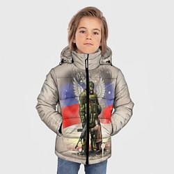 Куртка зимняя для мальчика Солдат и дитя цвета 3D-черный — фото 2