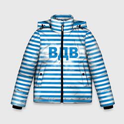 Детская зимняя куртка для мальчика с принтом ВДВ, цвет: 3D-черный, артикул: 10098332606063 — фото 1