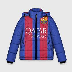 Куртка зимняя для мальчика Barcelona: Qatar Airways цвета 3D-черный — фото 1
