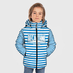 Детская зимняя куртка для мальчика с принтом ВДВ. Выше нас только звёзды, цвет: 3D-черный, артикул: 10099544306063 — фото 2